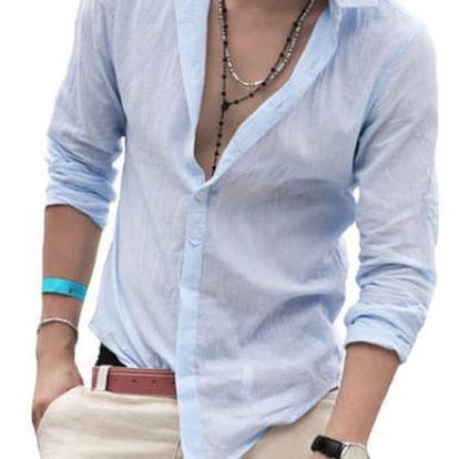 Pánská košile v ležérním stylu - různé barvy