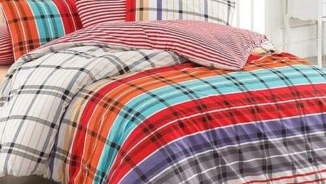 BedTex Bavlněné povlečení Riva červená, 140 x 200 cm, 70 x 90 cm