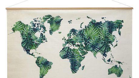 Dekorace nástěnná world, 120/80 cm