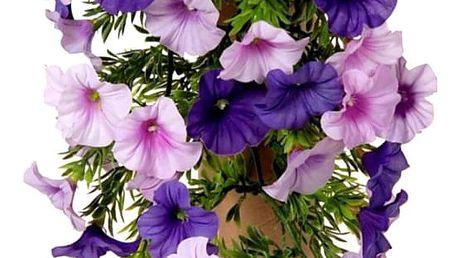 Umělá květina Petunia fialová, 40 cm