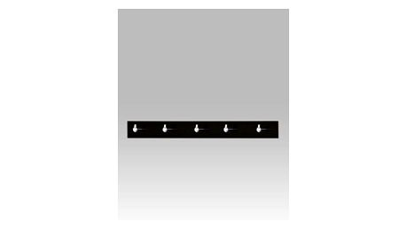 Nástěnný věšák, černý akrylát / chrom