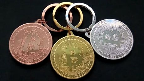 Klíčenka s motivem Bitcoin