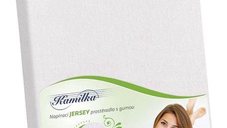 Bellatex Jersey prostěradlo Kamilka bílá, 120 x 200 cm