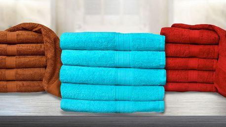 Hebké froté ručníky ze 100% bavlny v 8 barvách