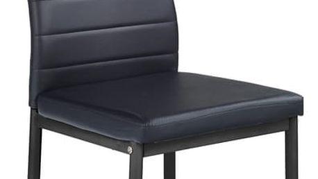 Kovová židle K70 černá Halmar
