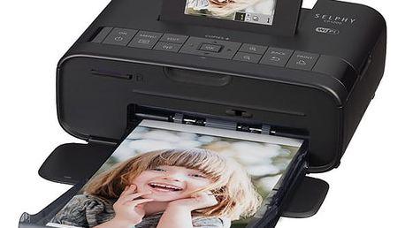 Fototiskárna Canon CP-1200 Selphy + sada 54 papírů a folií černá (0599C013)