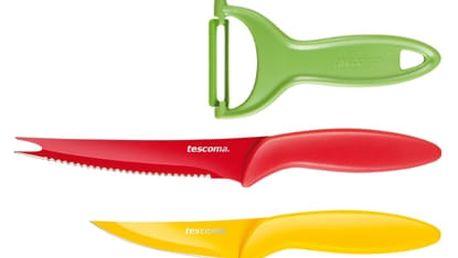 TESCOMA antiadhezní nože a škrabka PRESTO TONE, sada 3 ks