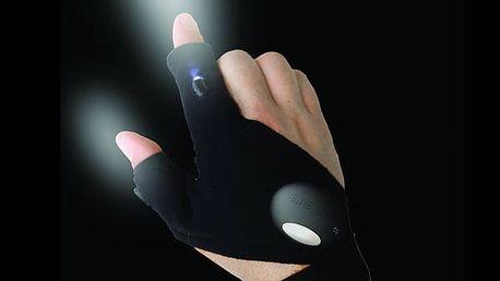 LED Svítící pracovní rukavice