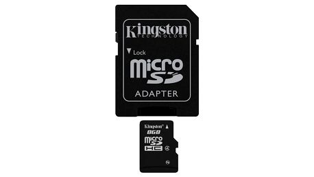 Paměťová karta Kingston MicroSDHC 8GB Class4 + adapter (SDC4/8GB)