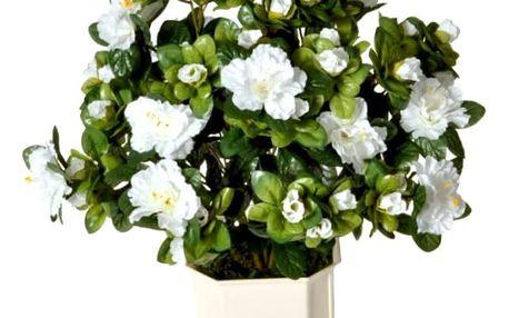 Umělá květina Azalka bílá, 40 cm