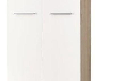 Šatní skříň LIMA REG-2 dub sonoma / bílá Halmar