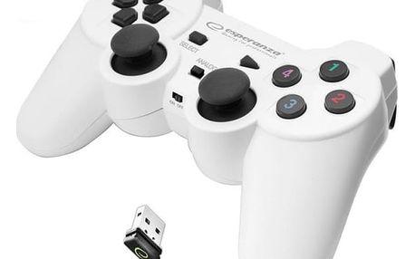 Gamepad Esperanza EGG108W Gladiator pro PC/PS3 bílý (EGG108W - 5901299947272)