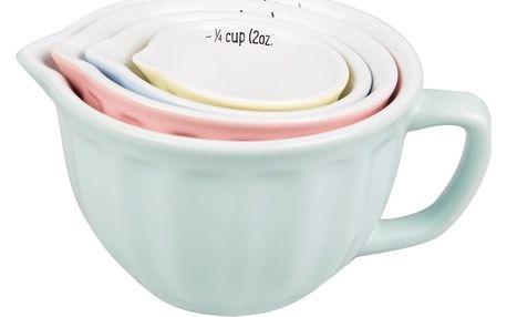 Sada 4 pastelových odměrných hrnků Sass & Belle Retro
