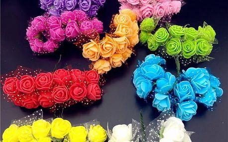 Pěnové dekorativní růžičky