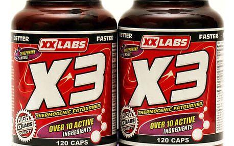 XXTREME NUTRITION Tri-Complex spalovač tuku X3 120 kapslí +120 kapslí zdarma