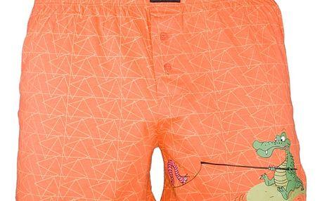 Pánské trenýrky Gino krokodýl oranžové