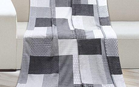 Bellatex Deka Kemping Kostka šedá, 150 x 200 cm