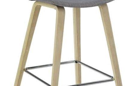 Barová židle H80 šedá Halmar