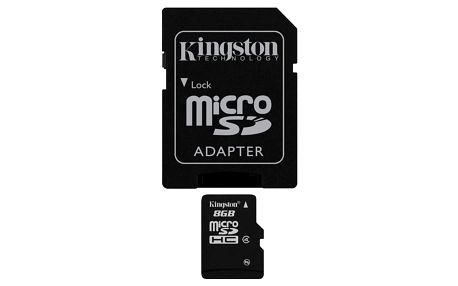 Kingston MicroSDHC 8GB Class4 + adapter (SDC4/8GB)