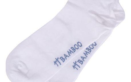Ponožky Gino bamboo bezešvé kotníčkové bílé