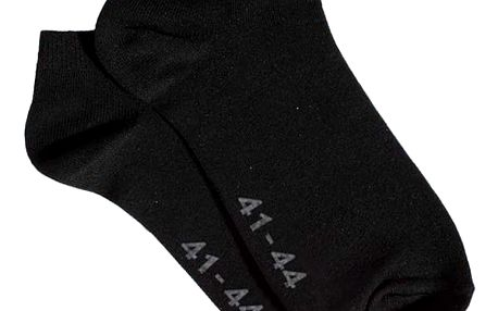 Ponožky Gino Bamboo Bezešvé Kotníčkové Černé
