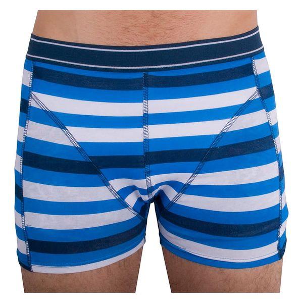 Pánské boxerky Molvy modro bílý pruh