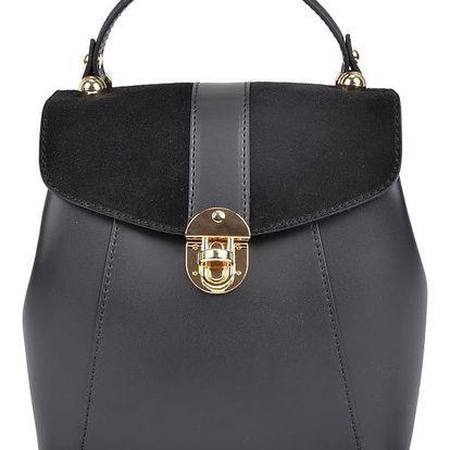 Černý kožený batoh Isabella Rhea Carmit