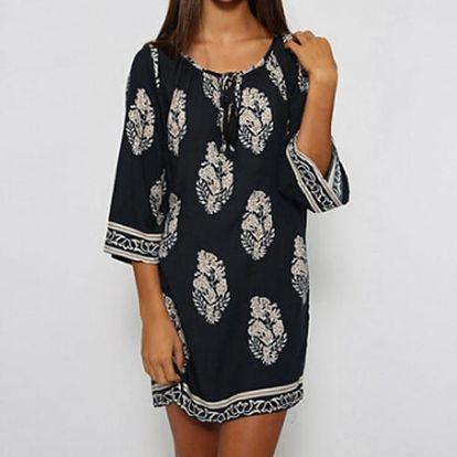 Letní volné šaty ve vintage stylu
