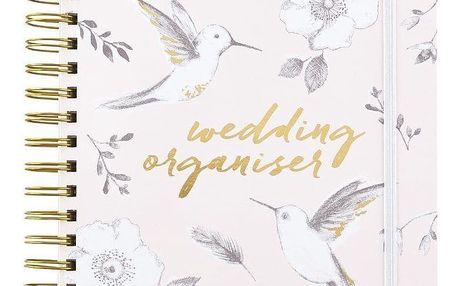Busy B Svatební plánovač Bride to B, růžová barva, zlatá barva, papír