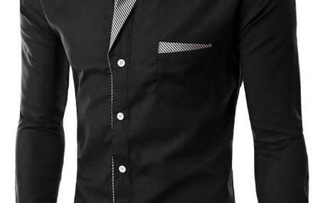 Pánská košile SLIM FIT s dlouhým rukávem - 17 barev
