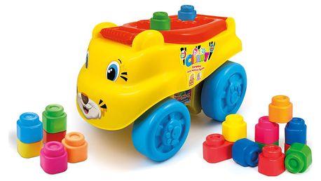 CLEMENTONI Clemmy baby - tygr vagón s kostičkama