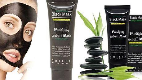 Korejská černá maska z bambusového uhlí