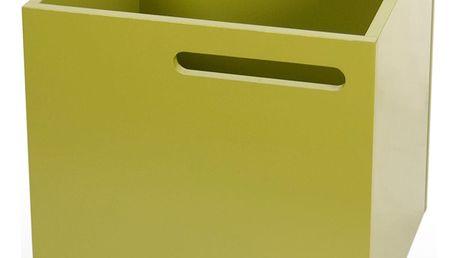 Zelený úložný box ke knihovně TemaHome Berlin