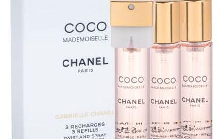 Chanel Coco Mademoiselle 3x 20 ml 20 ml parfémovaná voda Náplň pro ženy