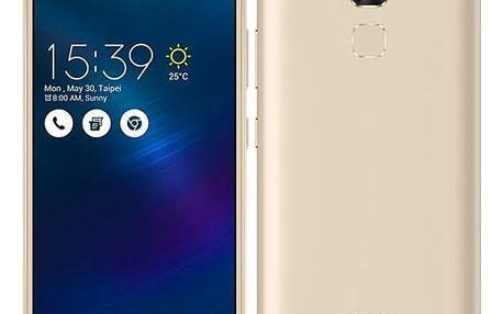 Mobilní telefon Asus ZenFone 3 Max ZC520TL (ZC520TL-4G076WW) zlatý Sluchátka Asus FoneMate s pouzdrem bílý + DOPRAVA ZDARMA