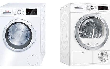 Set (Sušička prádla Bosch WTH85290BY) + (Automatická pračka Bosch WAT24460BY) + DOPRAVA ZDARMA