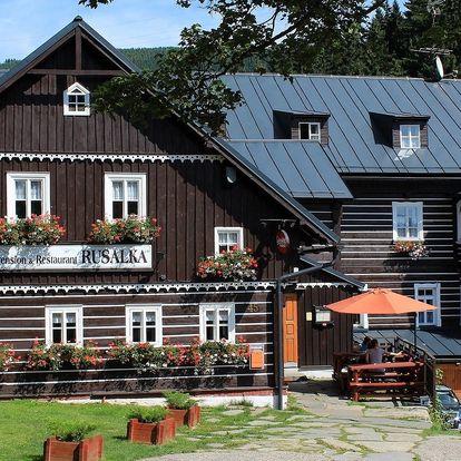 Penzion Rusalka v Krkonoších s polopenzí a relaxací ve vířivce a sauně