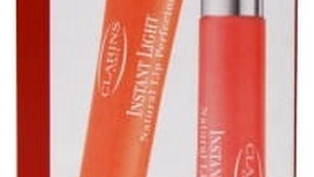 Clarins Instant Light Lip Perfector Collection 12 ml dárková kazeta dárková sada pro ženy lesk na rty Instant Light 12 ml + lesk na rty Instant Light 12 ml 02 Apricot Shimmer 01 Rose Shimmer