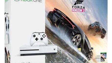 Microsoft Xbox One S 500 GB + Forza Horizon 3 (ZQ9-00118) bílá