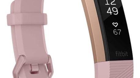 Fitness náramek Fitbit Alta HR small - Pink Rose Gold (FB408RGPKS-EU)