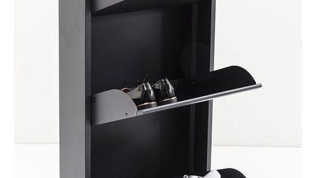 Antracitově černý kovový botník Kare Design Caruso