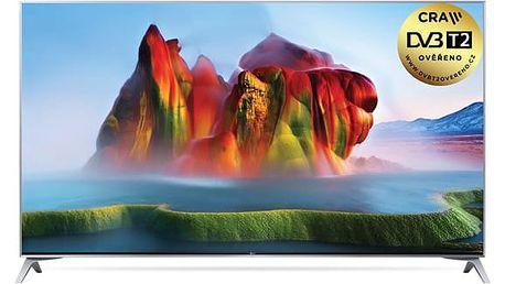 Televize LG 55SJ800V stříbrná
