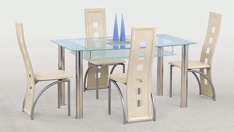 Skleněný stůl Cristal čirá