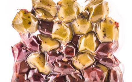 Marinované olivy mix bez pecky Hermes 150 g