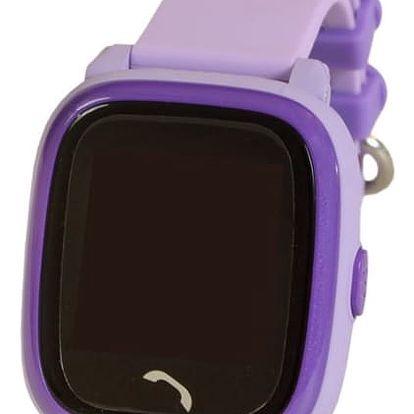 Chytré hodinky Helmer LK 704 dětské s GPS lokátorem fialový (Helmer LK 704 V)