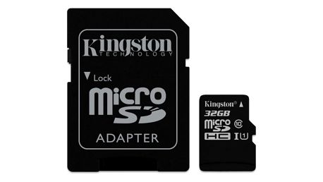 Paměťová karta Kingston Canvas Select MicroSDHC 32GB UHS-I U1 (80R/10W) + adapter (SDCS/32GB)