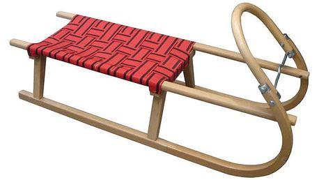 CorbySport 28441 Sáně 110cm dřevěné - červené