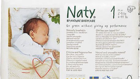 NATY NATURE BABYCARE 1 NEWBORN (2-5 kg), 26 ks - jednorázové pleny