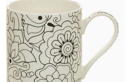 Cup Porcelán Béžový Černý - Kitchens Deco Kolekce by Bravissima Kitchen