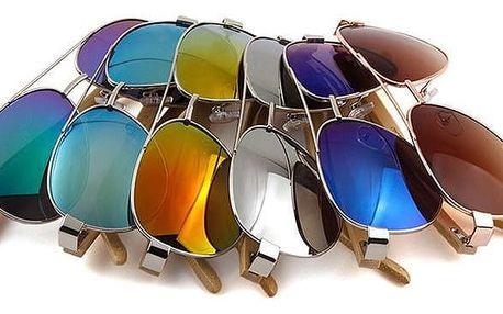 Sluneční brýle typu Pilot v různých barvách